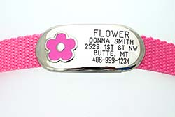 Jewelry Collar Tag - Flower